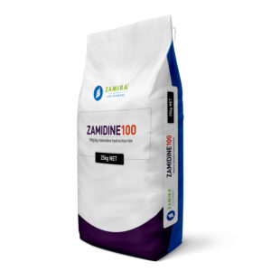 ZAMIDINE 100 with Robenidine hydrochloride is a broad spectrum, synthetic anticoccidial for use in all seasons in shuttle or rotation programs, with other anticoccidials | Zamira Australia