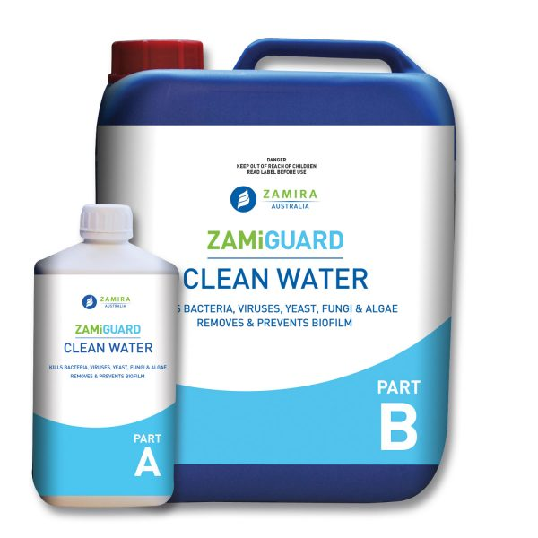 ZAMiGUARD CLEAN WATER is a stable and pure solution of chlorine dioxide with broad biocidal action for prevention and elimination of pathogenic microorganisms in water | Zamira Australia