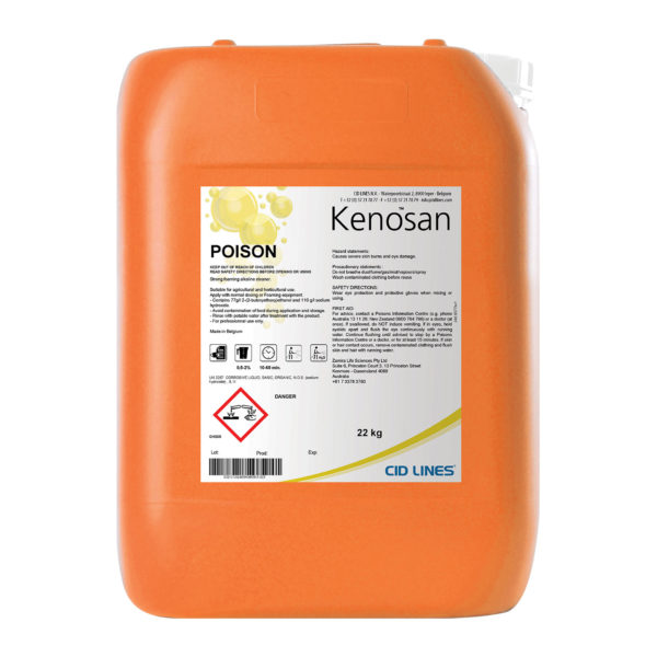Kenosan Detergent combines adhesion power and deep cleaning for use in pig, poultry and dairy houses | Zamira Australia