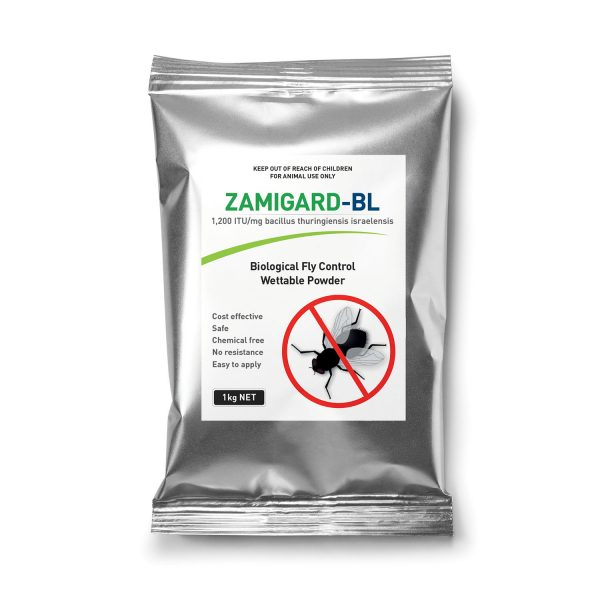 ZAMiGARD BL Fly Control (Bacillus thuringiensis israelensis) is a cost effective, safe and natural alternative to chemical larvicides for use in an integrated pest management strategy | Zamira Autralia