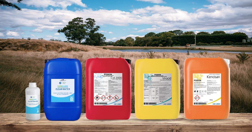 Virocid Disinfectant, Kenosan Detergent, Cid 2000 and Zamiguard Clean Water | Zamira Australia