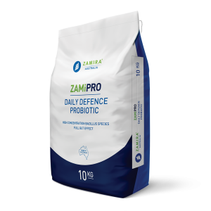 ZamiPro Daily Defence Probiotic, a powerful blend of bacillus species probiotics for the maintenance of a healthy gastrointestinal tract and improves production efficiency in livestock and aquaculture | Zamira Australia